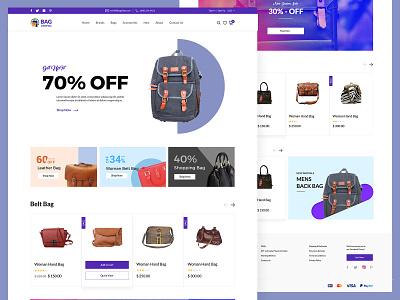 E Commerce ui design bag website ecommerce website