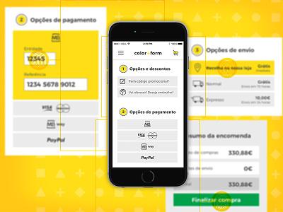 Colorform Checkout mobile shop e-commerce buy payment checkout