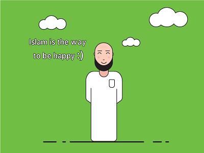 islam <3 simple lines cloud muslim islam character