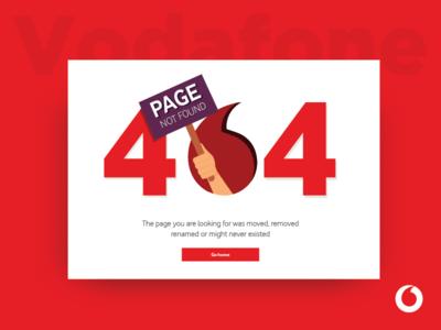 404 Vodafone Page lost error website page 404 ux ui red vodafone