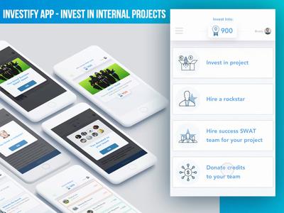 Investify App - Prototype, Motion, UI, UX prototyping prototype prototype animation investments invest animation nenad ivanovic ios gif app belgrade serbia ux ui