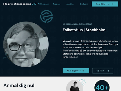 Deep Fake Animation for Conference Website conference video gif stockholm sweden ux ui website web animation deepfake deep fake