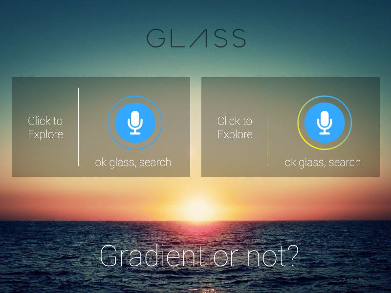 google glass gradient or not by nenad ivanovic dribbble