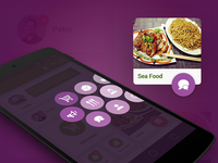 Purple menu drawer for Android