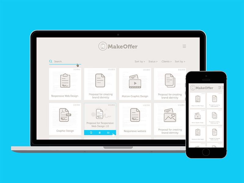 Make Offer Software UI UX web app google material icons mobile web tool app software ux ui