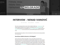 Nenad ivanovic design ux interview ux belgrade serbia