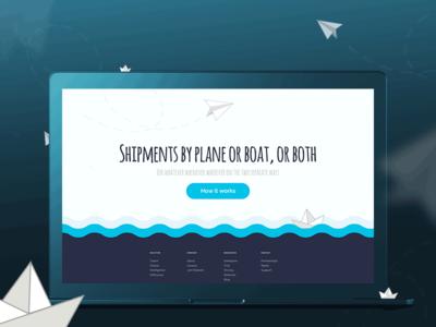 Shipping Worldwide Website boat plane tracking shipment shipping ship ux ui web design responsive web website