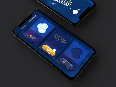 Game UI on iPhone X gamedev mobile ios apple snowboard iphone x iphonex iphone x ux ui game