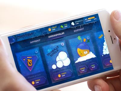 Snowboard Game UI Shop shopping icons sport snowboard token tokens buy shop ux ui game