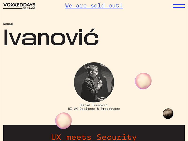 UX Meets Security voxxed serbia belgrade video prototyping brutalism conference talk development security ux