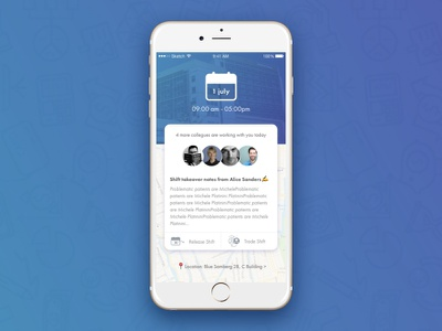 Shifty - Healthcare Assistant mobile serbia nenad ivanovic assistant emoji blue motion gif prototyping ux ui healtcare