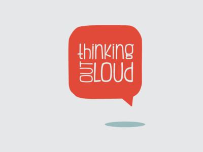 Thinking Out Loud Logo logo orange bubble talk listen speech social minimal clean