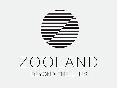 Zooland Logo logo zebra zoo circle clean land lines black white