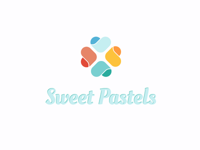 Sweet Pastels Logo pastel color heart hearts simple clean logo sweet