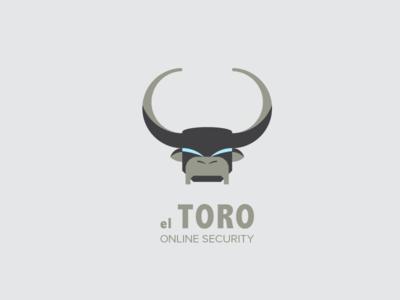 El Toro Logo bull horn horns logo black blue online security