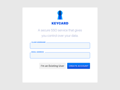 on boarding concept create account keycard sso on boarding