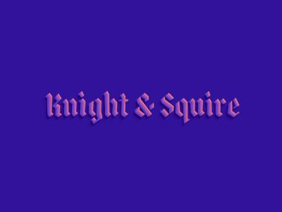Knight & Squire logotype blackletter chromaletter