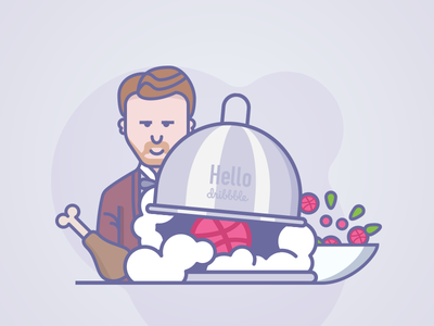 Dribbble Hello hello vector gastronomy food icons