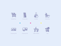 Print machines icons