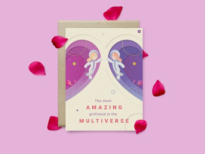 The most amazing girlfriend in the multiverse valentines day card valentines day valentines illustration