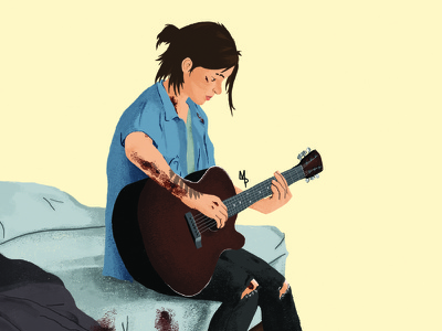 The Last of Us Part 2 naughty dog video games the last of us tlou2 doodle drawing illustration ps4 playstation sony tlou