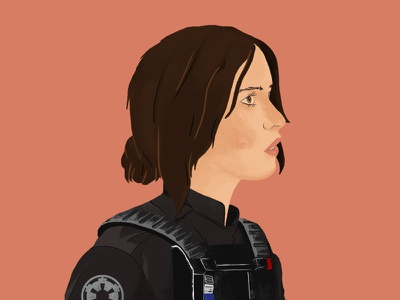 Rebellions are built on hope jyn erso rogue one drawing illustration star wars