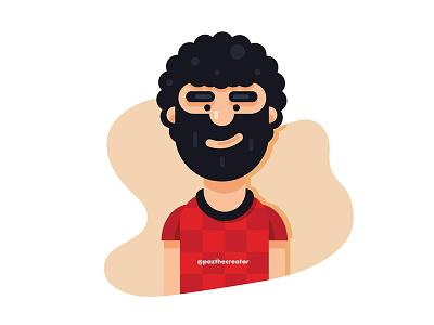 Mo Salah egyptian king egypt world cup sport illustration soccer football mohamed salah mo salah salah