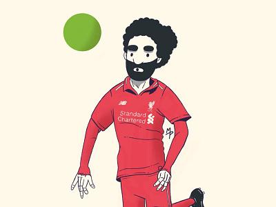 Running down the wing illustration sport soccer football mo salah mohamed salah liverpool fc liverpool lfc salah