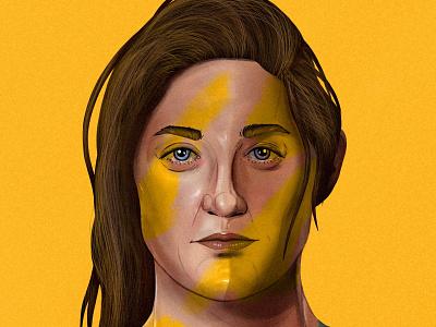 Laura Alleway drawing portrait womens football laura alleway painting illustration sport soccer australia football