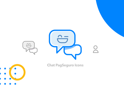 Chat Icons user payment conversation smille icon chatbot