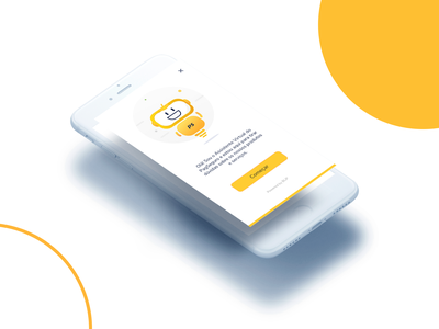 Welcome Screen from PagSeguro ChatBot icon conversation smille illustration ui onboarding app design chatbot app