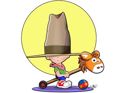 Get Along Pardner animation vector illustration