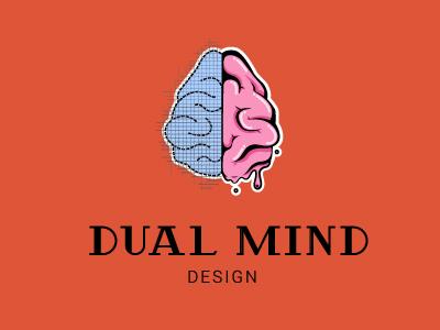 Dual mind design logo