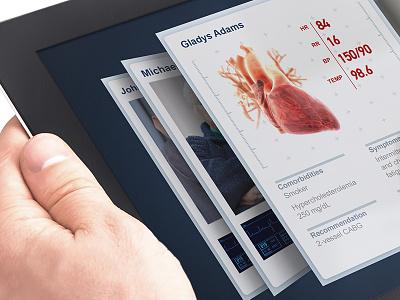 Health Tech iPad App ux app design ui illustration 3d ios visual design health mobile ipad