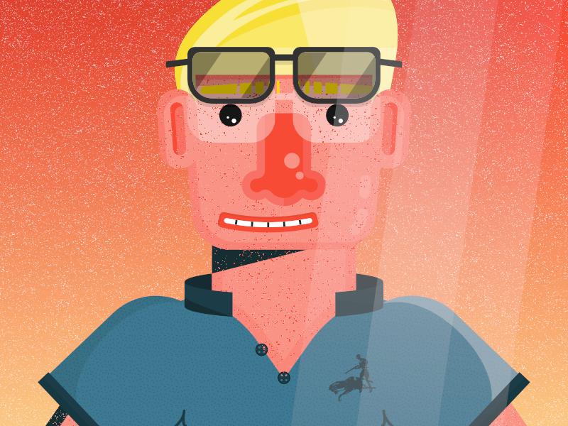 """Looser at the Derby"" by Ralph Lauren tan line sunglasses man equestrian horse fashion ralph lauren polo"