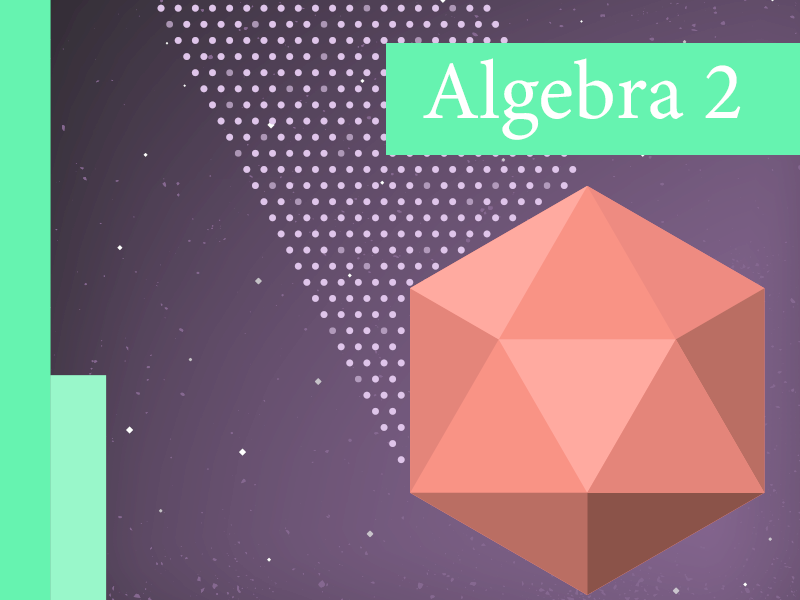 Algebra 2 dots prism abstract textbook school math book math algebra