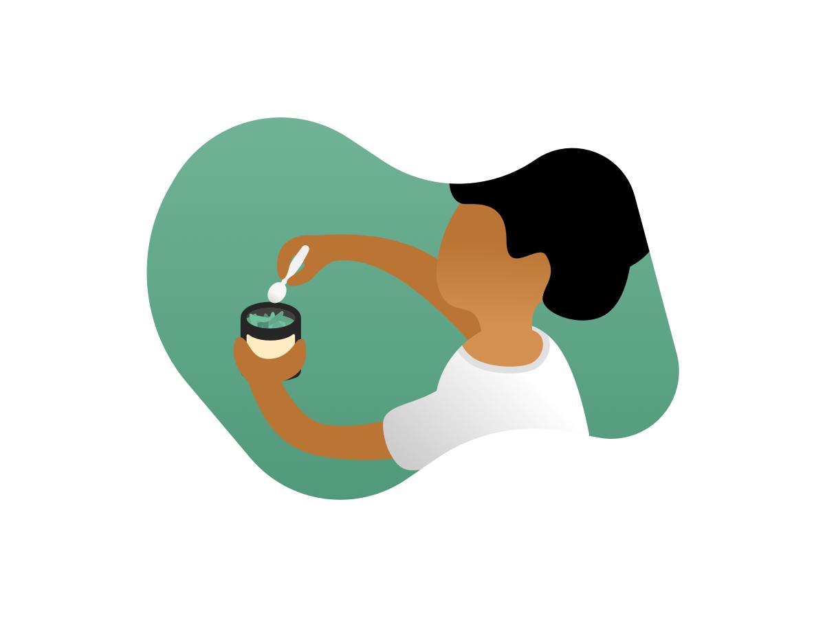 Steeped App - Illustration #2 tea leaves tea illustration onboarding mobile app app design
