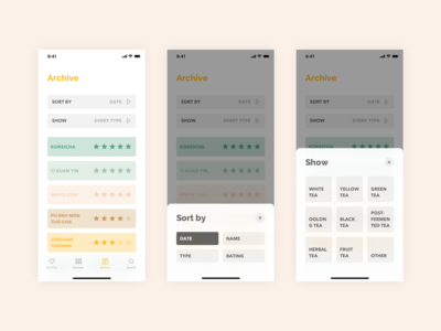 Steeped App - Archive