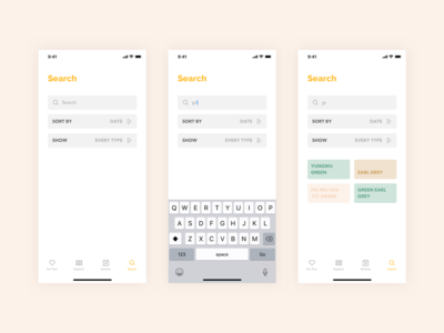 Steeped App - Search