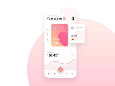 Banking Mobile App mobile app mobile credit debit dashboard balance shapes navbar money widelab wallet app wallet chart card banking banking app bank app ux ui