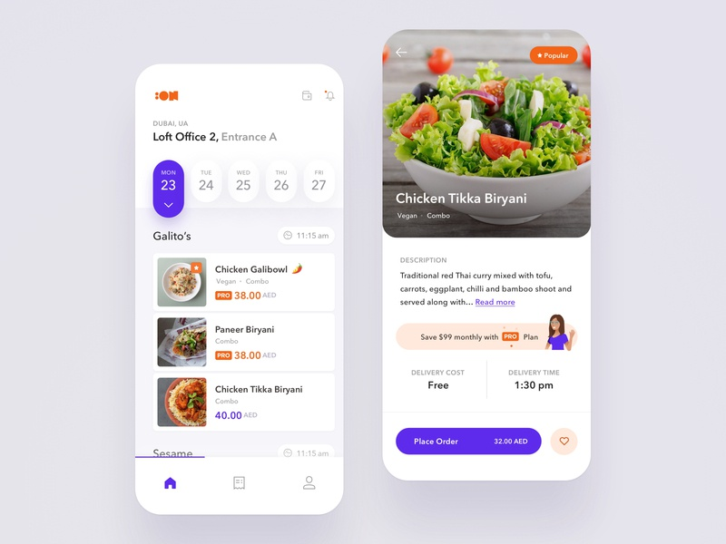 Food Catering Mobile App widelab ordering price description food app ui tag list dish food app sketch delivery meal restaurant lunch food order mobile app ux ui