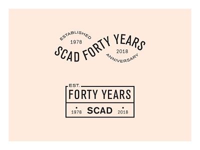 SCAD 40 Years savnnah university celebrate typography mark lockup branding