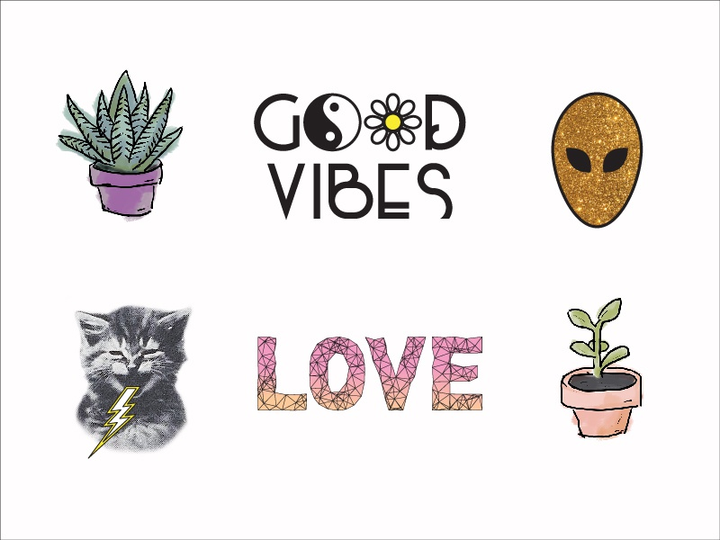 Client Who Loves Stickers weird fun graphicdesign design cat goodvibes stickers