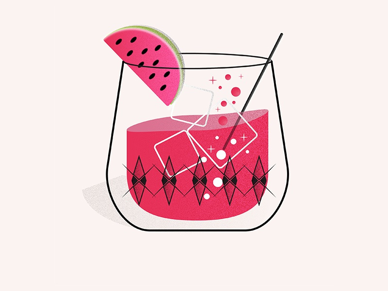 Drink Illustration summer cocktail design illustration graphic