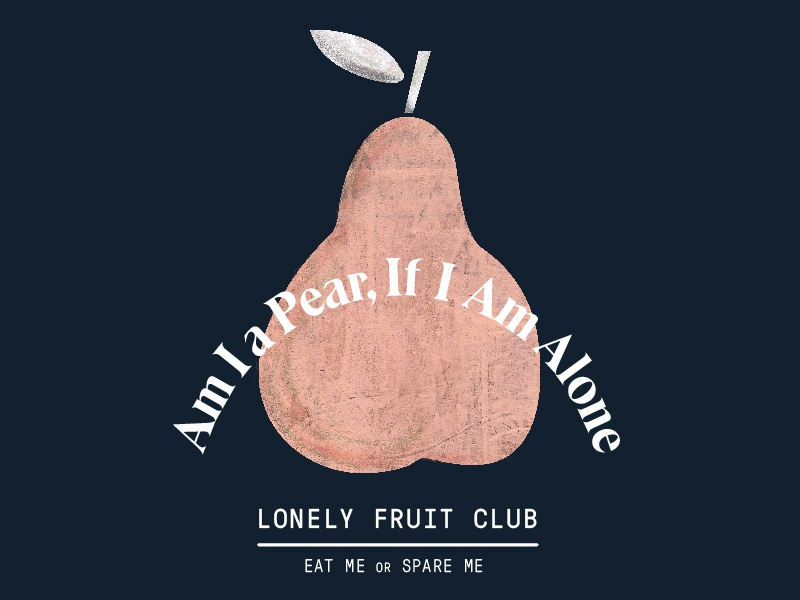 Lonely Fruit Club typography vector fruit graphic illustration