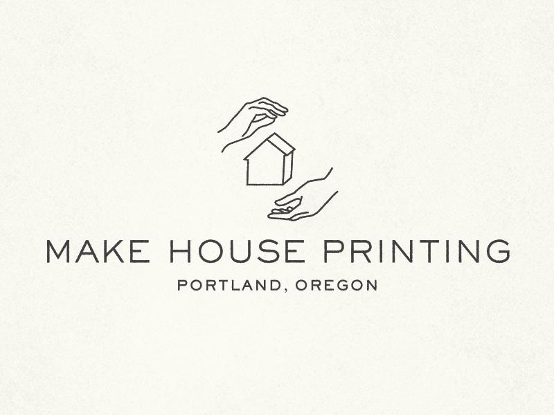 Make House Printing Logo oregon print typography mark lockup branding