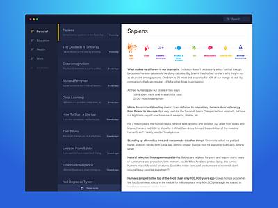 Alternote Redesign flat blue sketch simple interface clean branding web vector app ui design