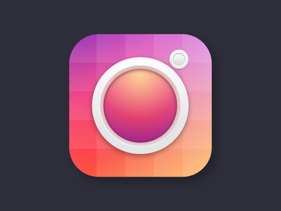 Instagram #SkeuMeetsFlat 3d texture mobile icons identity branding ios vector flat icon