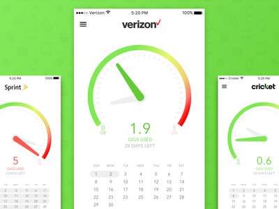 Verizon App (Concept) design ui vector app branding ux flat ios iphone mobile sketch simple
