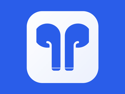 Airpods (icon) simple design ios apple flat clean icon